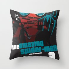 Amazing Spider-man 2 Poster Throw Pillow