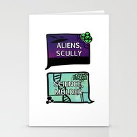 scully Stationery Cards featuring Aliens, Scully by raynall
