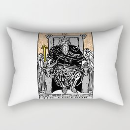 Geometric Tarot Print - The Emperor Rectangular Pillow