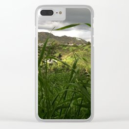 hollywood hills after rain Clear iPhone Case