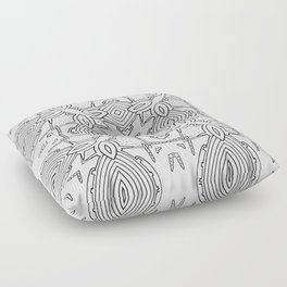 outback lines Floor Pillow