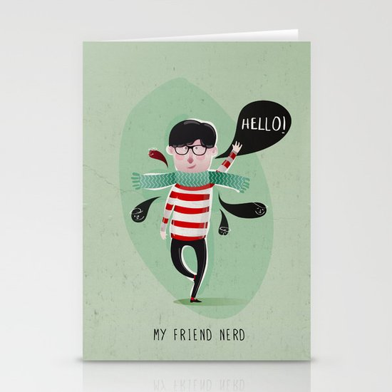 MY FRIEND NERD Stationery Cards