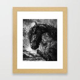 Will you trust me? Framed Art Print