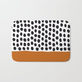Classy Handpainted Polka Dots with Autumn Maple Bath Mat