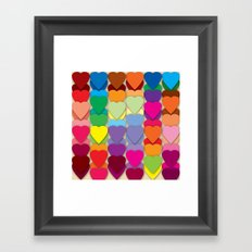 Colored Hearts Framed Art Print