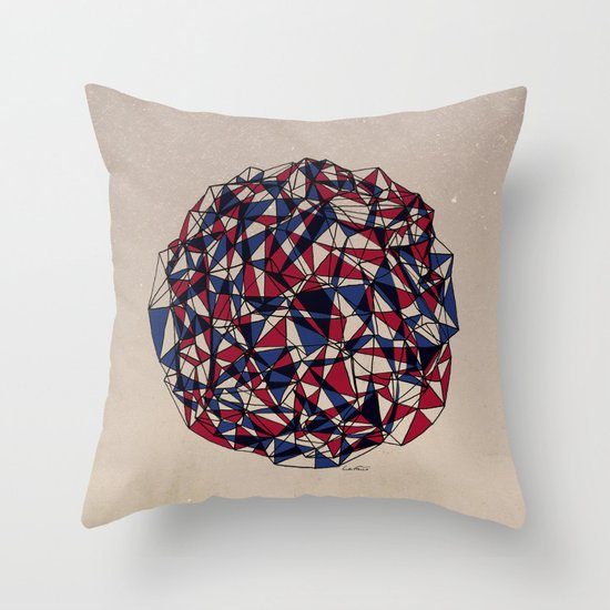 - red blue - Throw Pillow