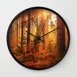 The Golden Hour (Color) Wall Clock
