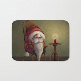 New edit: Little Santa in his rocking chair Bath Mat