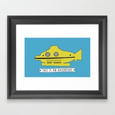 The Life Aquatic with Steve Zissou This is an Adventure Framed Art Print