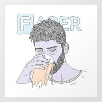zayn Art Prints featuring Zayn by Megandoods