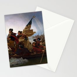 George Washington Crossing Of The Delaware River Painting Stationery Cards