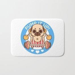 Pump It Up, Puglie! Bath Mat
