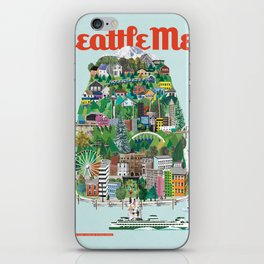 Seattle Met, May 2015 Cover by Doug Chayka iPhone Skin