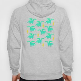 Correfoc dragon and devils * yellow & mint palette Hoody