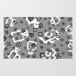 pattern with symbols of photos and videos Rug