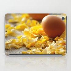 Fresh italian Pasta with egg iPad Case