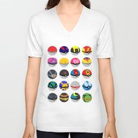 pokeball V-neck T-shirts featuring Pokeball by WSS3 The Paint Project