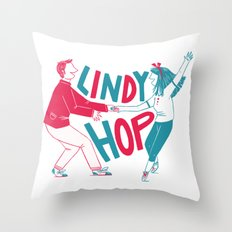 Lindy hop - Swing out Throw Pillow
