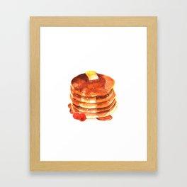 Pancake pile watercolor Framed Art Print