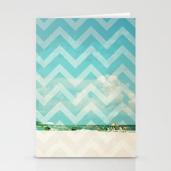 Chevron Beach Dreams Stationery Cards