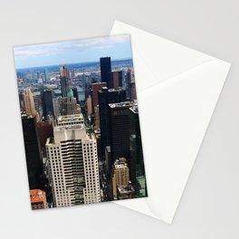 NewYork New York - A View Over Manhattan Stationery Cards