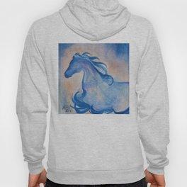 Azure Arabian Horse Profile Hoody