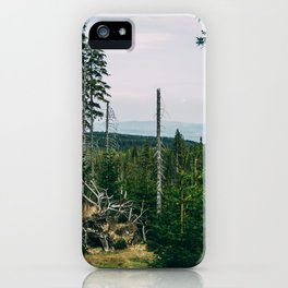 Evergreen Mountain Forest iPhone Case