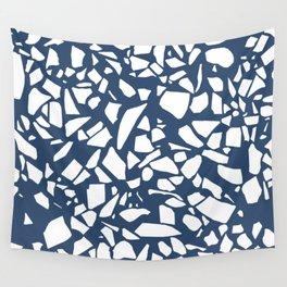 Terrazzo Navy Wall Tapestry