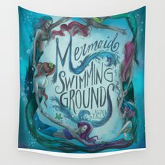 Mermaid Swimming Grounds Wall Tapestry