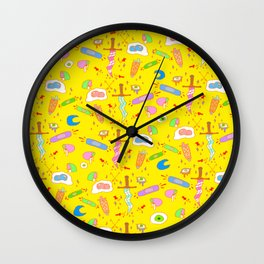 Eggs and Knives Wall Clock