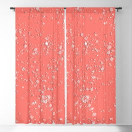 Coral. Stains. Blackout Curtain