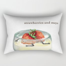 La Cuisine Fusion - Strawberries with Mayo Rectangular Pillow
