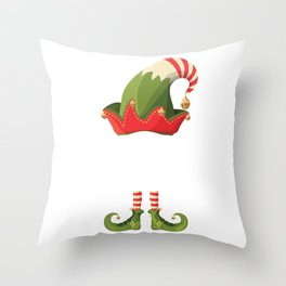 THE SAY WHAT Elf Family Matching Xmas Throw Pillow