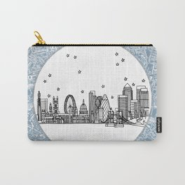 London, England (United Kingdom), Europe City Skyline Illustration Drawing Carry-All Pouch