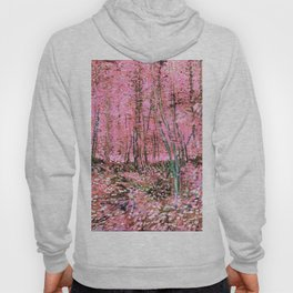 Pink Vincent Van Gogh Trees and Undergrowth 1887  Hoody
