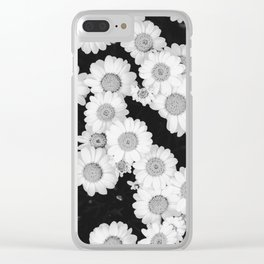 The Daisy Garden (Black and White) Clear iPhone Case