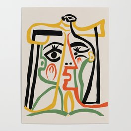 Picasso - Woman's head #1 Poster