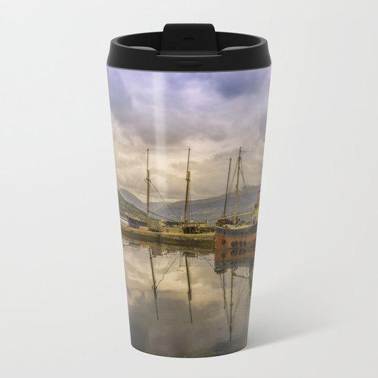 Evening at the Dock Metal Travel Mug