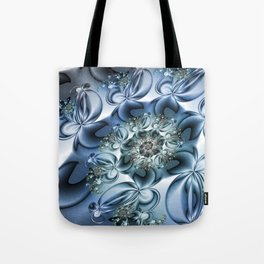Dynamic Spiral, Abstract Fractal Art Tote Bag