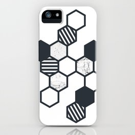 Marble Hex White iPhone Case