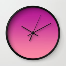 Fuchsia Carnation Pink Gradient Ombre Wall Clock