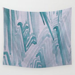 Watercolor Waves Wall Tapestry