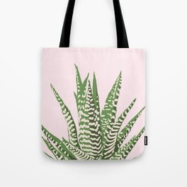 Desert Blossom - Pink and Green Succulent Tote Bag