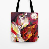 cuddle Tote Bags featuring Cuddle Time by Travis Clarke