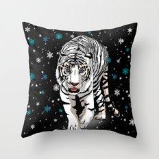 Snow tiger Throw Pillow