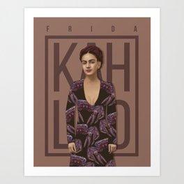 Portrait of Frida Kahlo Art Print