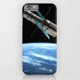 Hubble Space Telescope - Hubble Space Telescope over Earth iPhone Case