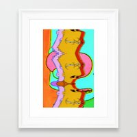 simpson Framed Art Prints featuring SIMPSON by jajoão