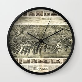 City of Hoboken, New Jersey (1904) Wall Clock