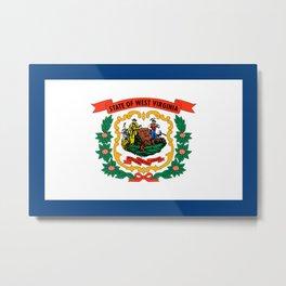 West Virginia State Flag Metal Print